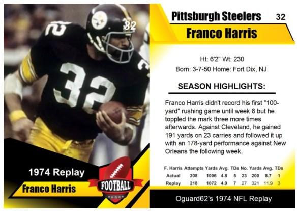 1974 - Franco Harris Card