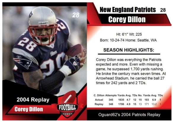 2004 - Corey Dillon Card