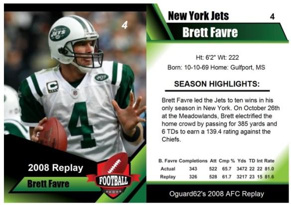 2008 - Brett Favre Card