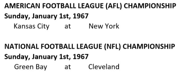 Championship Schedule