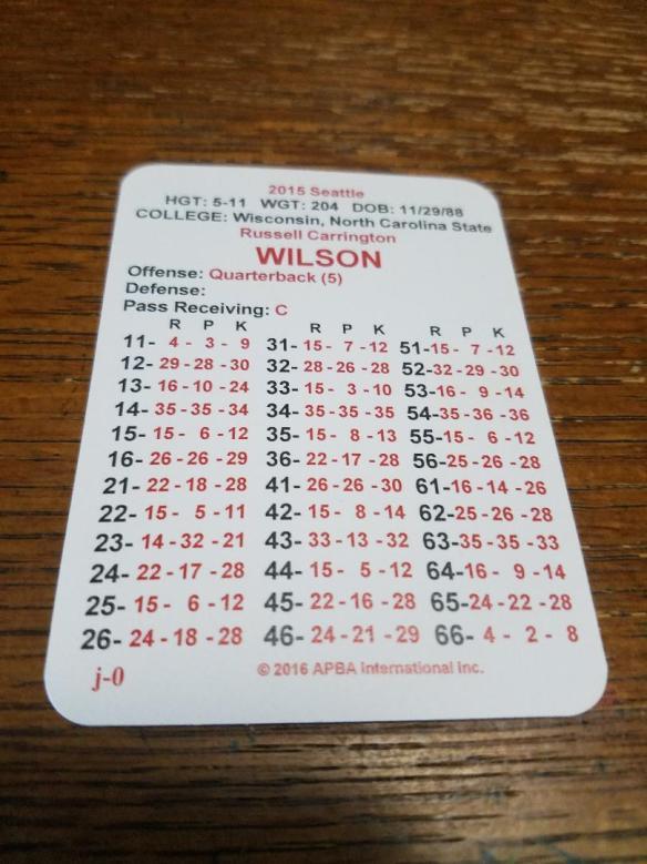 Russell Wilson Card