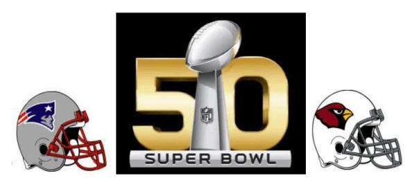 Super Bowl 50 Matchup Logo