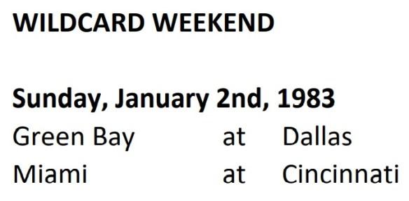 WildCard Weekend