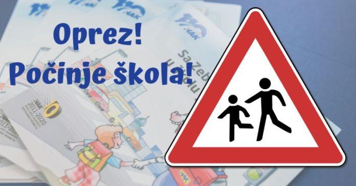 školarci na cesti