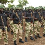 A contingent of Nigerain army.