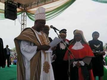 Governor Ibikunle Amosun swearing in