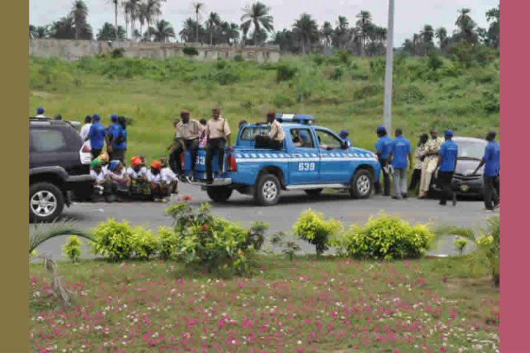 Scene of a auto crash