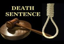 Sentenced to death by hanging