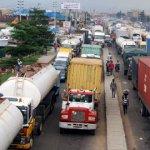 Traffic gridlock scene