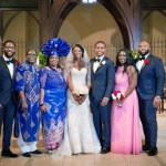 The couple with the bride's family. From left – Mr. Iheanyi Ekechukwu, Dr. Peter Ekechukwu, Mrs. Angela Ekechukwu, Mrs. Nneka Soyinka, Mr. Tunlewa Soyinka, Ms. Chizoma Ekechukwu, and Mr. Obinna Ekechukwu.