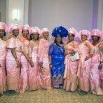 Mrs. Angela Ekechukwu, mother of the bride, with guests