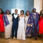 From left: The couple with Ms. Brenda Teiko, Mrs. Olu Teiko and other guests