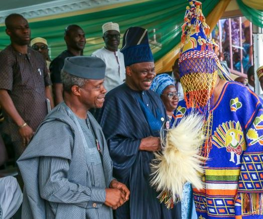 VP Osinbajo, Amosun urge new Akarigbo of Remoland to mobilise subjects for devt
