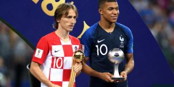 Croatia star, Luka Modric and young Mbappe of France