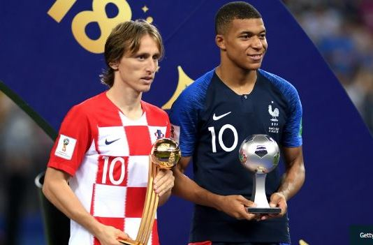 Croatia star, Luka Modric and young Mbappe of France