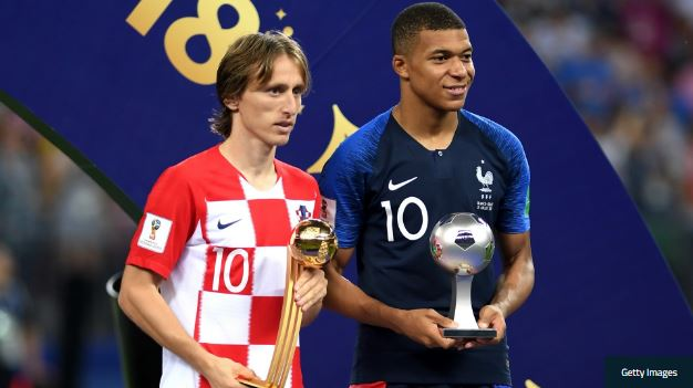 Croatian star, Modric wins World Cup Golden Ball, Mbappe named best young player
