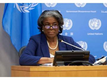 Linda Thomas Greenfield the Us permanent representative to the the United State