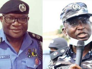Ogun police commissional Edward Ajogun and Lagos police commissinal Hakeem Odumosuu