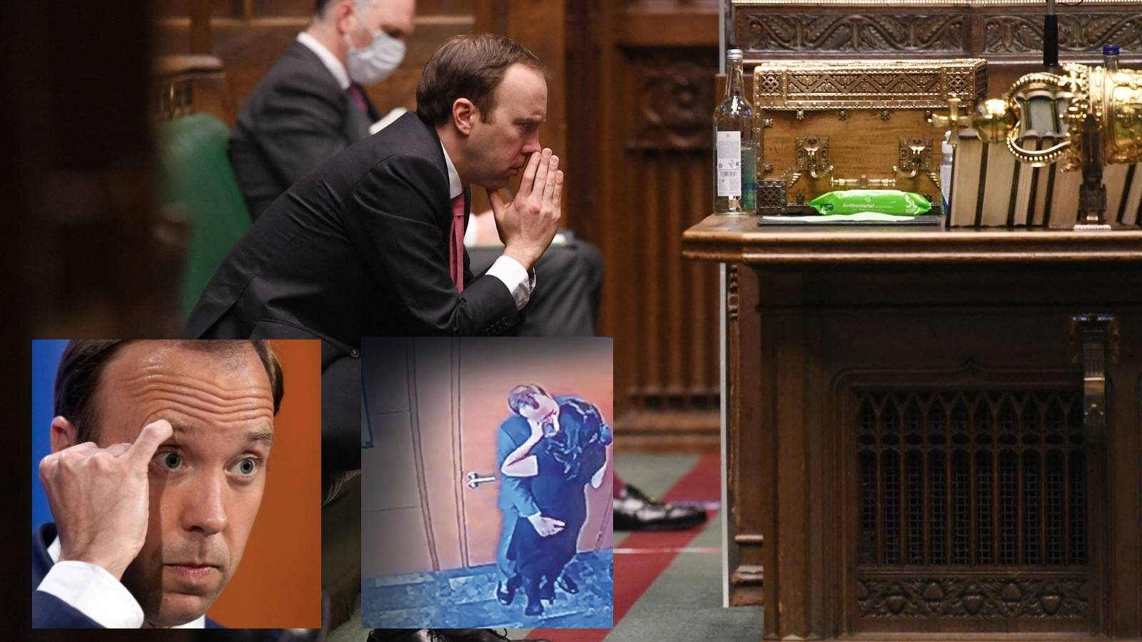 Image about UK Health minister kissing aide during Covid-19 pandemic