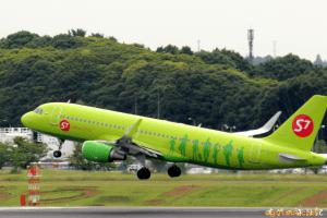 S7航空 A320-200 (成田→ウラジオストク)