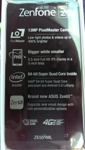 Zenfone2 スペック