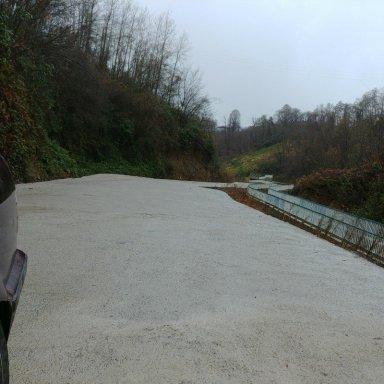 Sanayi baglanti yolu betonlanma çalışmaları tamamlandı