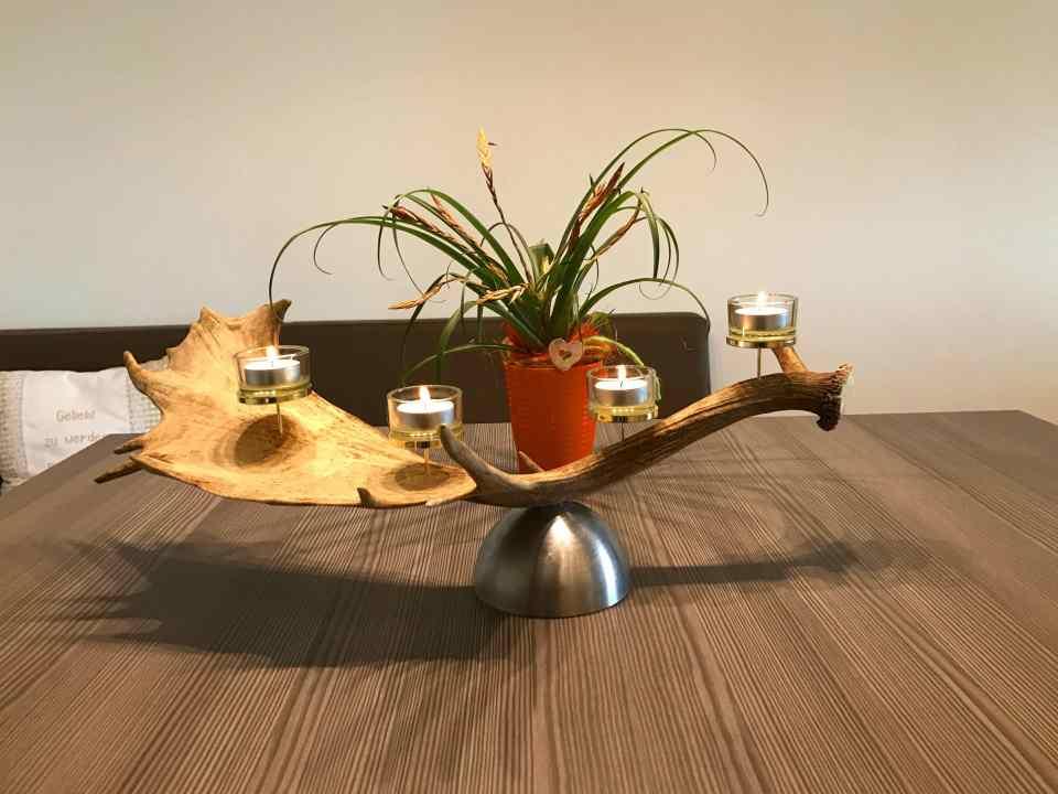 Geweih Deko Teelichthalter passend zu jeglicher Art von Geweihmöbel