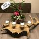 Individueller Teelichthalter gold, geschenk für einen jäger, teelichthalter gold, hirschgeweih deko, geweih deko, einrichtung, damhirsch, licht, modern, extravagant, unikat, personalisiertes geschenk