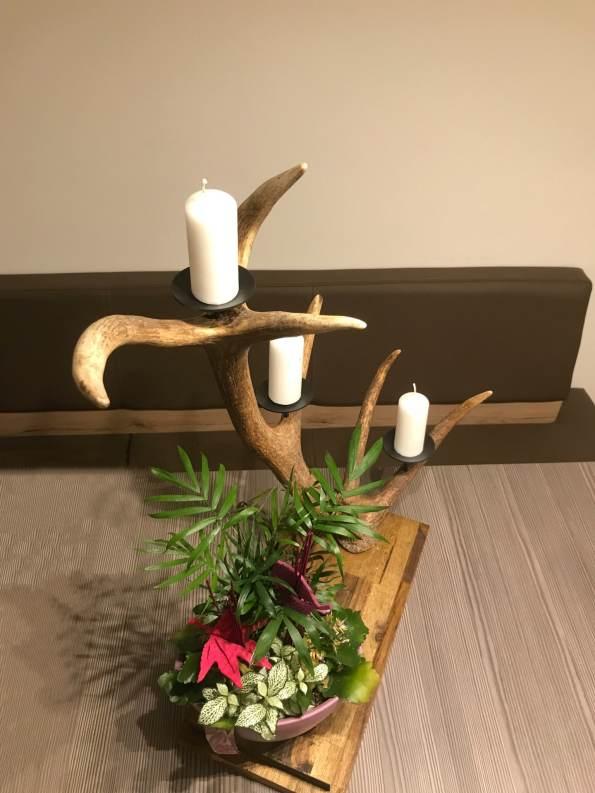 Kerzenhalter aus Geweih