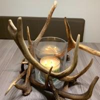 Geweih Kerzenhalter