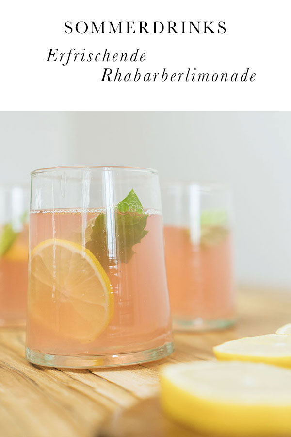 Sommerdrinks: Rhabarberlimonade