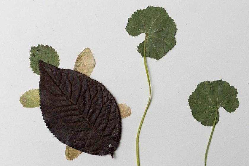 DIY: Tierbilder aus Blättern