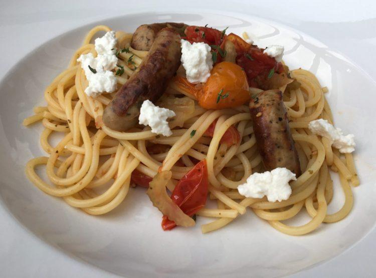 Spaghetti mit Schmorgemüse