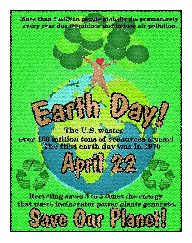 Earth Day Infographic with Facts