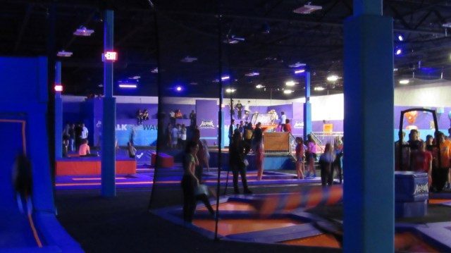 "Teenagers take full advantage of Altitude's ""Teen Night,"" an event designated for teen jumpers every Saturday from 7-10 p.m.."