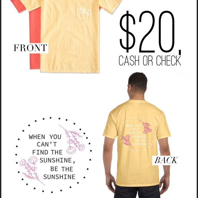 20 dollars cash or check to buy a shirt for family in need