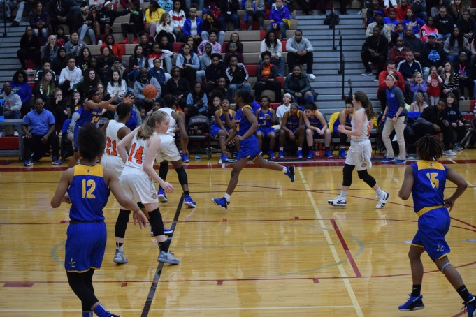 OHS girls basketball players face off against Joliet West