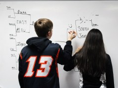 Mariah Trevino and Alexander Mielcarz making their March madness brackets
