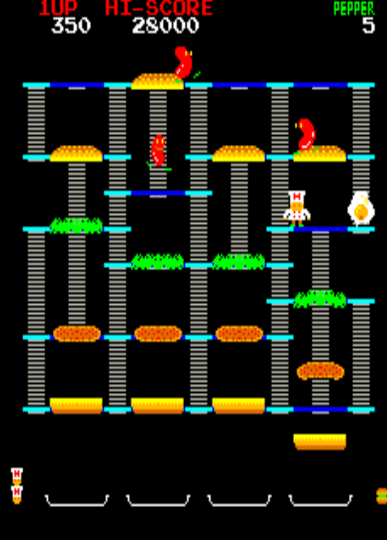 Burger Time gameplay screenshot