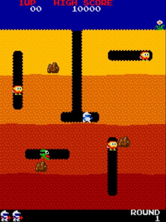 Dig Dug gameplay screenshot