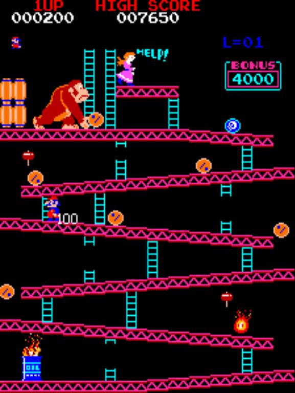 Donkey Kong gameplay screenshot