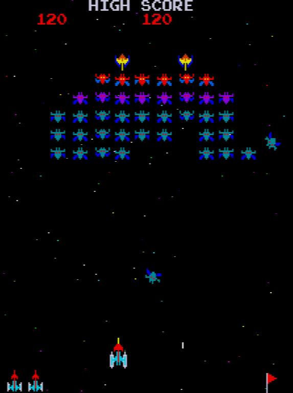 Galaxian gameplay screenshot