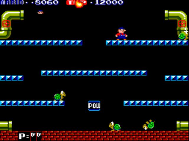 Mario Bros. gameplay screenshot