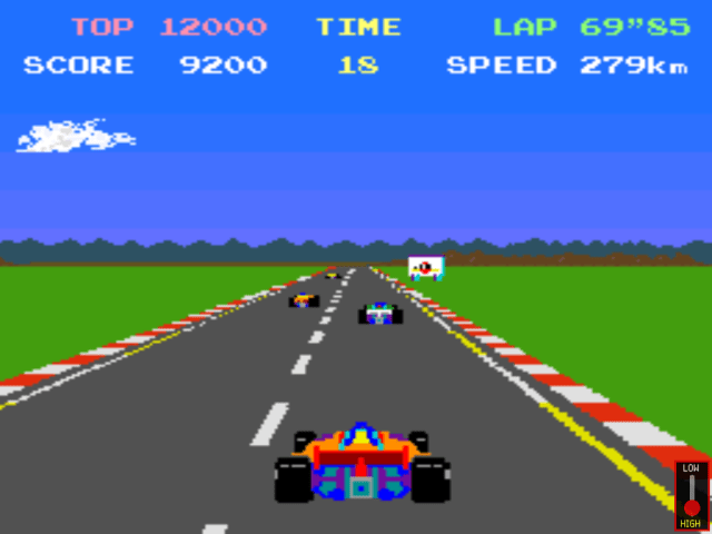 Pole Position gameplay screenshot