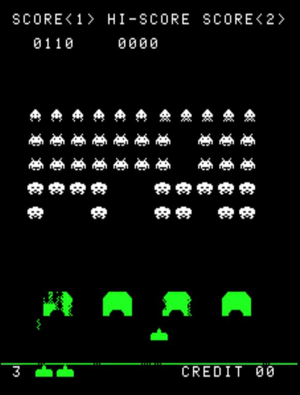 Space Invaders gameplay screenshot