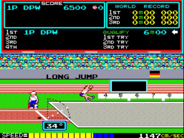 Track & Field gameplay screenshot