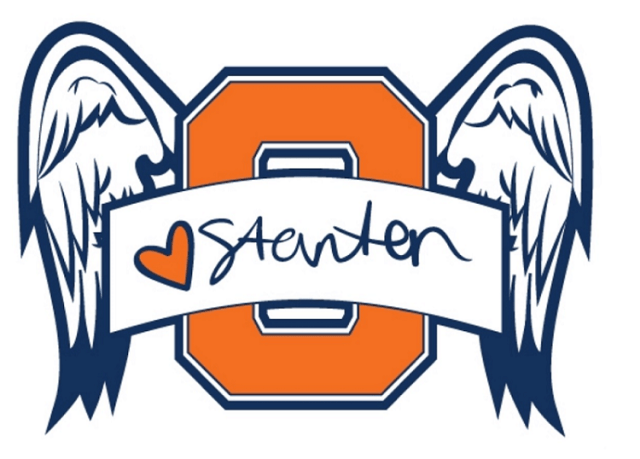 T-shirt logo, showing Stanton's signature