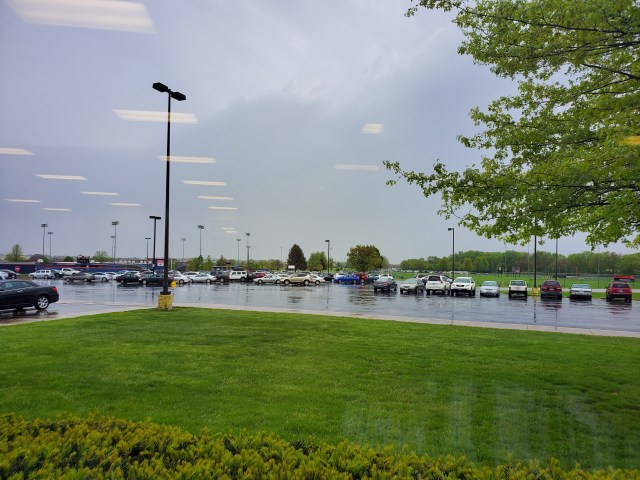 Oswego High School parking lot