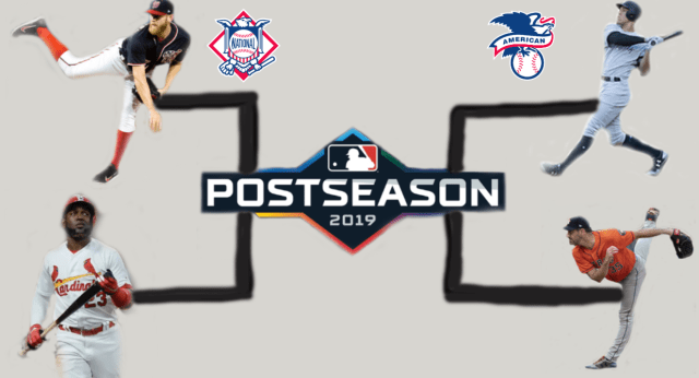 bracket showing the postseason MLB matchup
