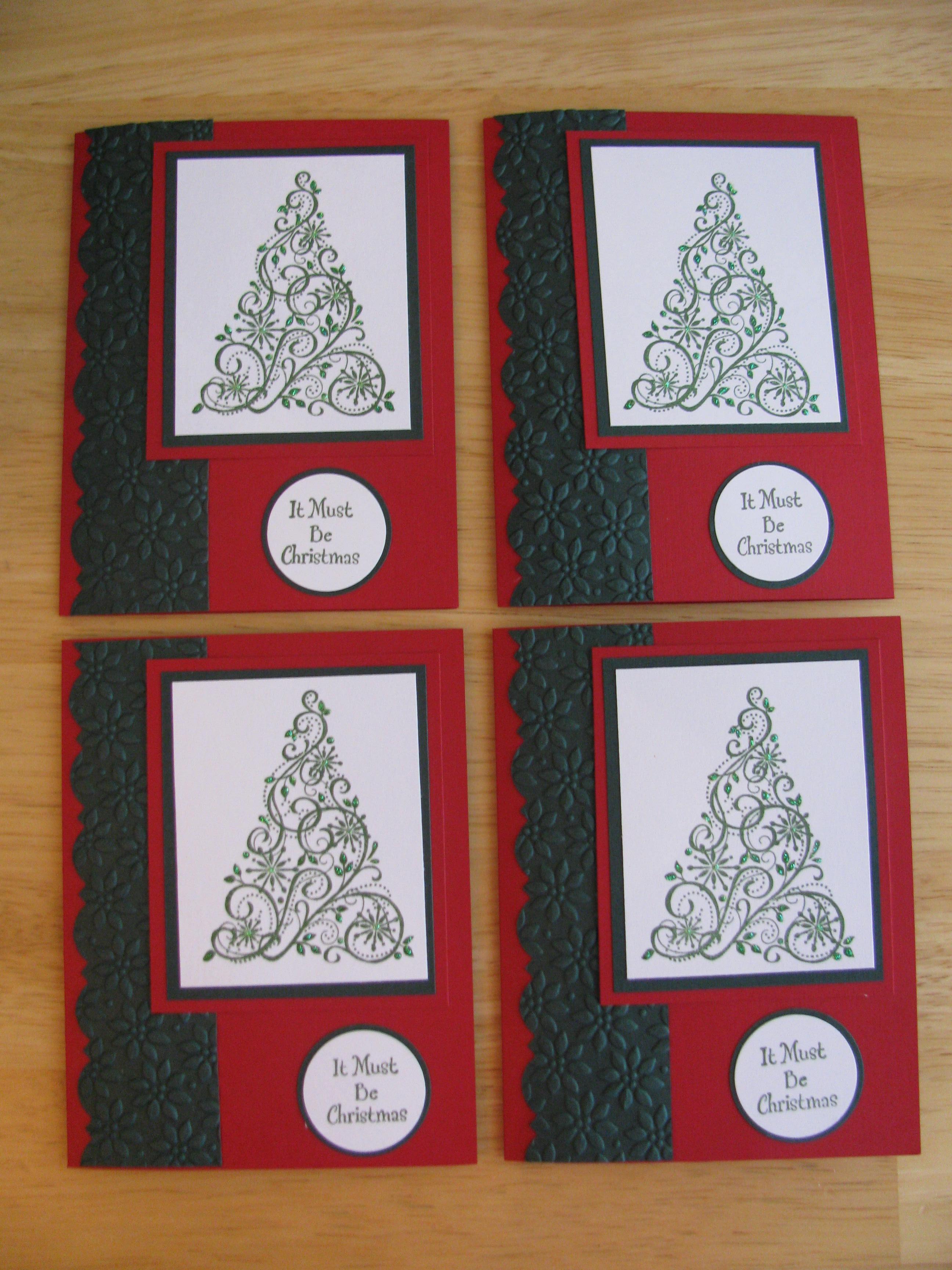 Stampin Up Christmas Cards Karens Cards Amp Ideas
